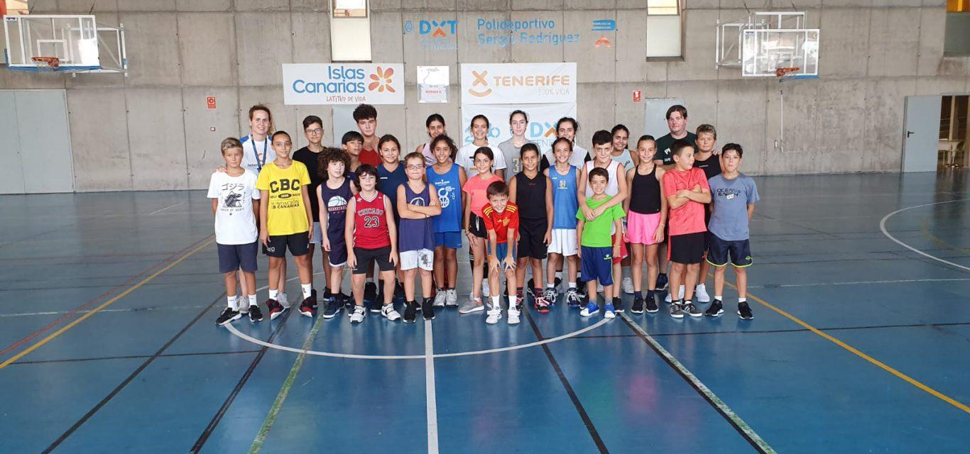 Gran participación en el Campus de Baloncesto del CB Tenerife Central